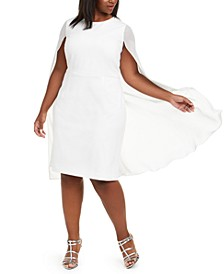 Plus Size Cape Sheath Dress