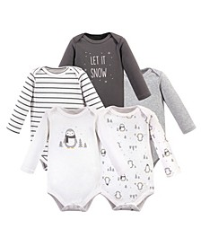 Baby Boy and Girl Long Sleeve Bodysuits, 5 Pack