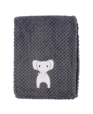Hudson Baby Baby Boy And Girl Plush Waffle Blanket In Gray