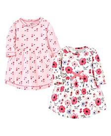 Baby Girl Long Sleeve Organic Dress, 2 Pack