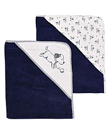 Puppy Toile 2 Pack Hooded Towel Set