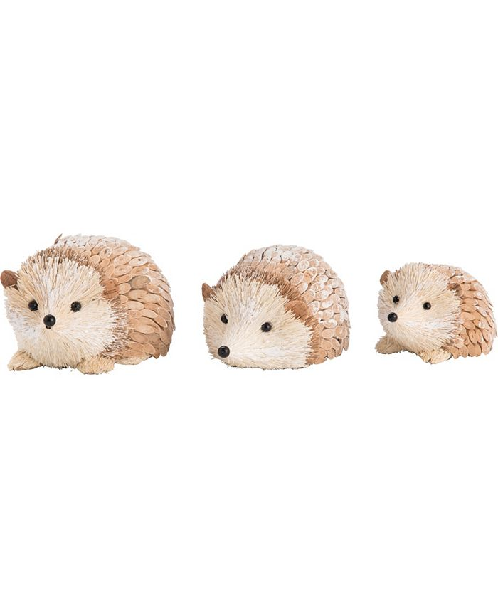 Trans Pac - Foam  White Christmas Winter Hedgehog Set of 3