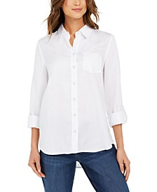 Solid Button-Down Shirt, Created for Macy's