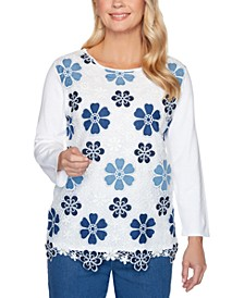 Pearls of Wisdom Floral Lace Sweater