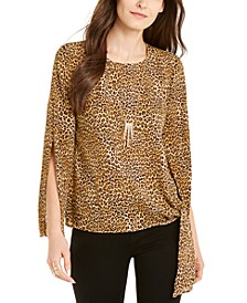 Printed Split-Sleeve Top, Created for Macy's