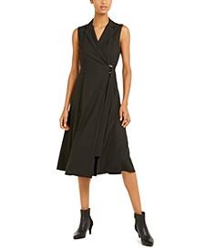 Striped A-Line Sleeveless Dress