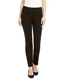 Ponté-Knit Slim Pants, Created for Macy's