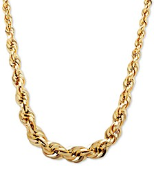 "Graduated Rope 18"" Chain Necklace in 10k Gold"
