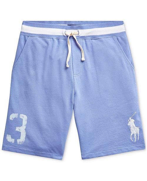 Polo Ralph Lauren Big Boys Big Pony Cotton Mesh Shorts