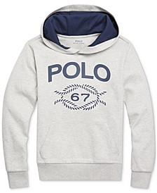 Big Boys Double-Knit Graphic Hoodie