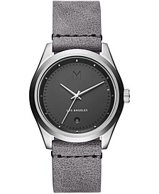Men's Pelham Gray Leather Strap Watch 39mm