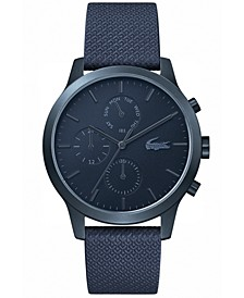 Men's Chronograph 12.12 Blue Leather Strap Watch 42mm