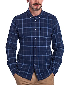 Men's Tailored-Fit Tattersall Check Shirt