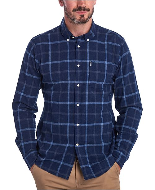 Barbour Men's Tailored-Fit Tattersall Check Shirt