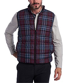 Men's Slim-Fit Tartan Gilet Vest