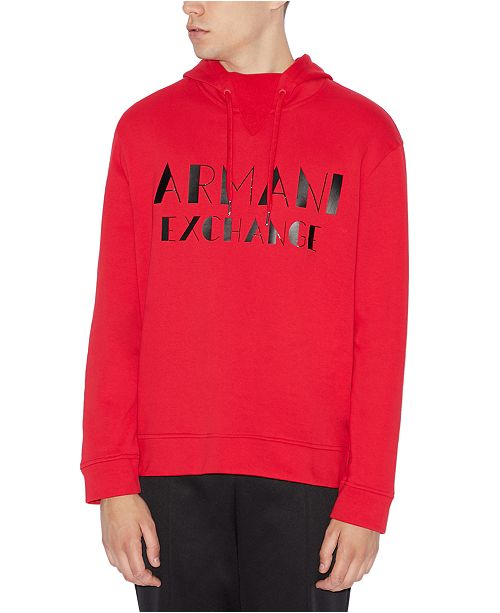 A X Armani Exchange Men's Marquee Logo Hoodie