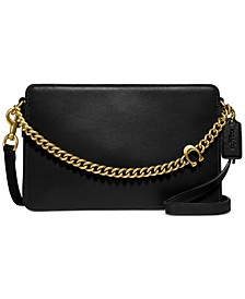 Refined Calf Leather Signature Chain Crossbody