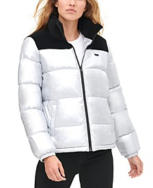 Pearlized Puffy Jacket
