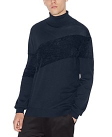 Men's Textured Diagonal Turtleneck Sweater