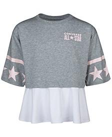 Big Girls Cotton Peplum T-Shirt