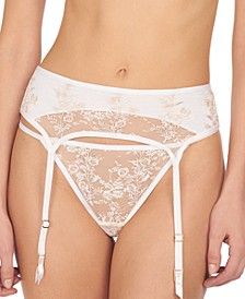 Women's Obsession Floral Embroidered Lace Garter Belt 779234