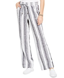 Striped Wide-Leg Beach Pants