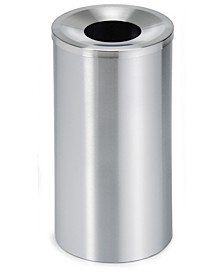 Stainless Steel Wastepaper Basket - Lid