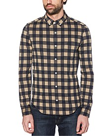 Men's Regular-Fit Buffalo Check Knit Shirt