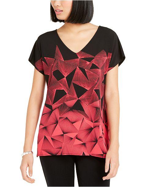 Alfani Geo-Print Tunic, Created for Macy's