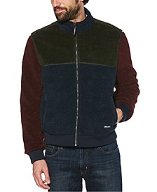 Men's Colorblocked Fleece Full-Zip Bomber Jacket