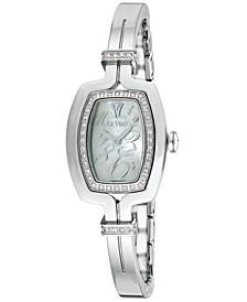 Women's Swiss Diamond (1/4 ct. t.w.) Stainless Steel Bangle Bracelet Watch 25.7x20.4mm