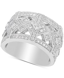 Diamond Princess Openwork Statement Ring (3/4 ct. t.w.) in Sterling Silver