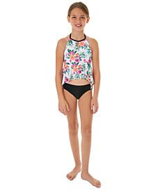 Big Girls 2-Pc. Ruffle-Hem Tankini Swim Suit