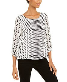 Printed Blouson Top, Created For Macy's