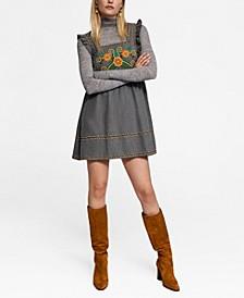 Leandra Medine Embroidered Short Dress