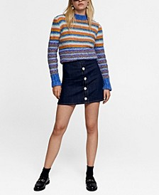 Leandra Medine Beads Striped Sweater