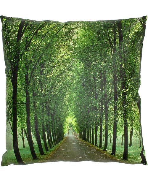 "Red Lantern Path Of Life Pillow, 14.25"" x 14.25"""