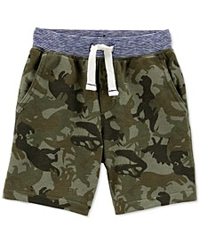 Toddler Boys Cotton Camo-Print Pull-On French Terry Shorts