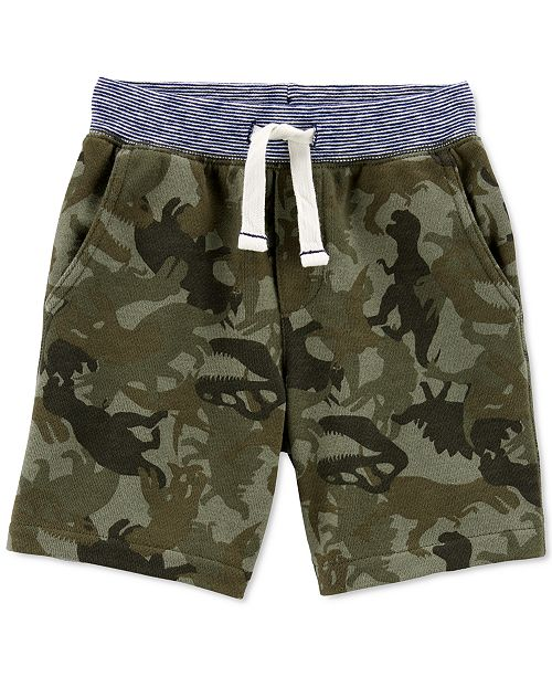 Carter's Toddler Boys Cotton Camo-Print Pull-On French Terry Shorts