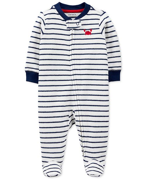 Carter's Baby Boys Striped Crab Coverall