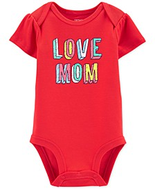Baby Girls Cotton Love Mom Bodysuit