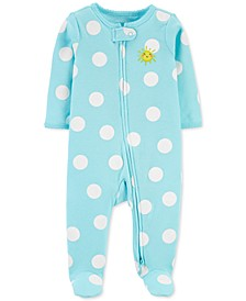 Baby Girls or Boys Footed Polka-Dot Sunshine Sleep and Play