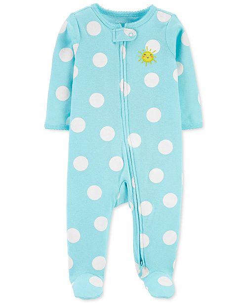 Carter's Baby Girls Footed Polka-Dot Sunshine Sleep and Play