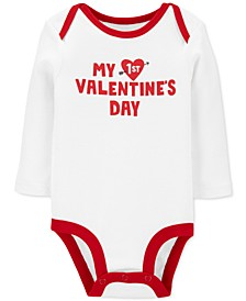 Baby Boys & Girls 1st Valentine's Day Cotton Bodysuit