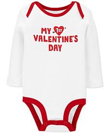Baby Boys & Girls 1st Valentine's Day Cotton Bodysuit