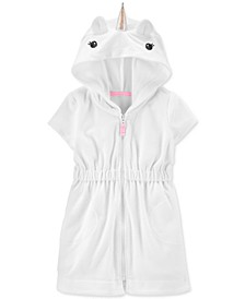 Baby Girls Hooded Unicorn Cover Up