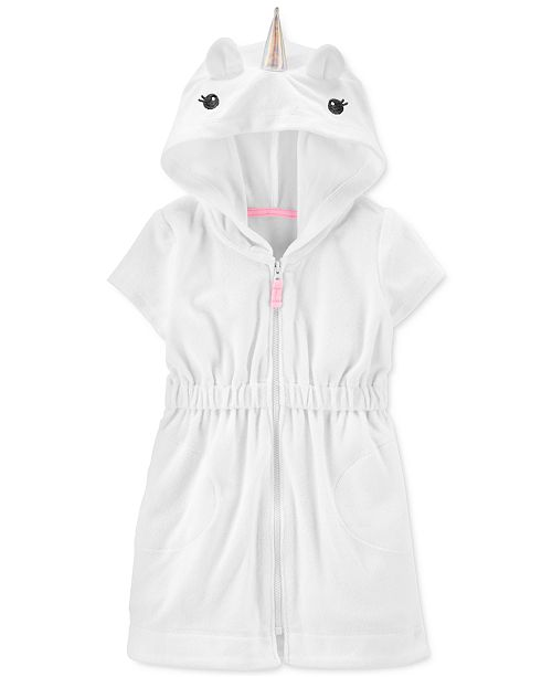 Carter's Baby Girls Hooded Unicorn Cover Up
