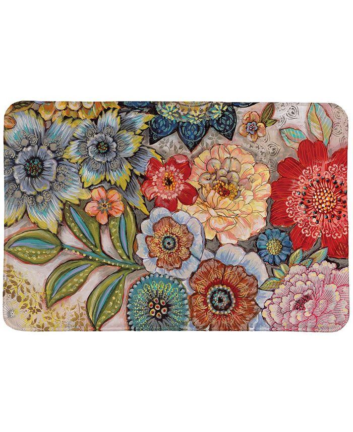 Laural Home - Boho Bouquet Memory Foam Rug