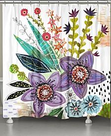 Violet Blooms Shower Curtain