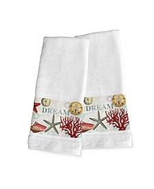 Dream Beach Shells 2-Pc. Hand Towel Set